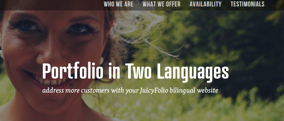 Set up a JuicyFolio website in two languages