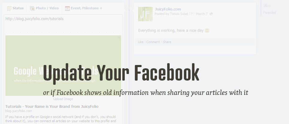 Information on Facebook doesn't have to be the same as on your web