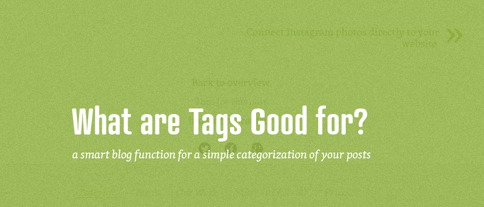 Practical use of tags for your blog