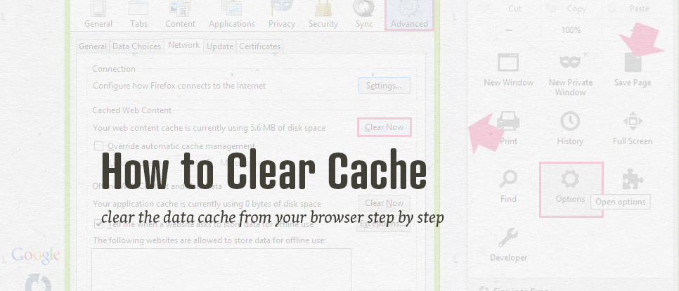 How to clear cache of your browser