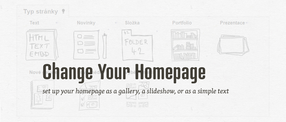 Change the type of your homepage