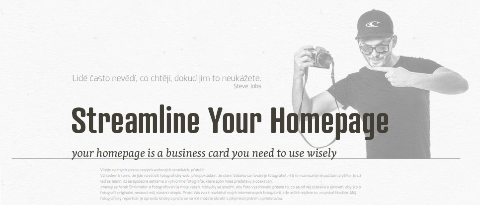 Homepage - the first impression you don't know you are making