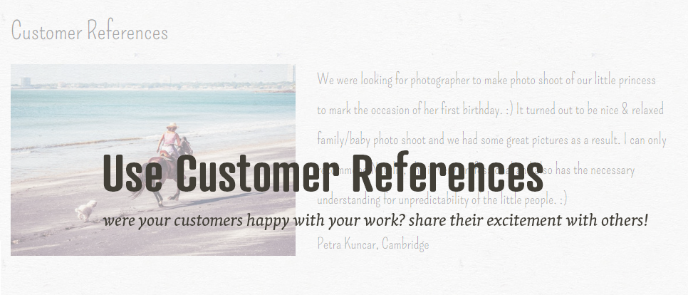 Use customer references in your portfolio