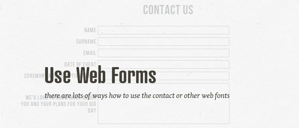 Various usage of web forms for your portfolio
