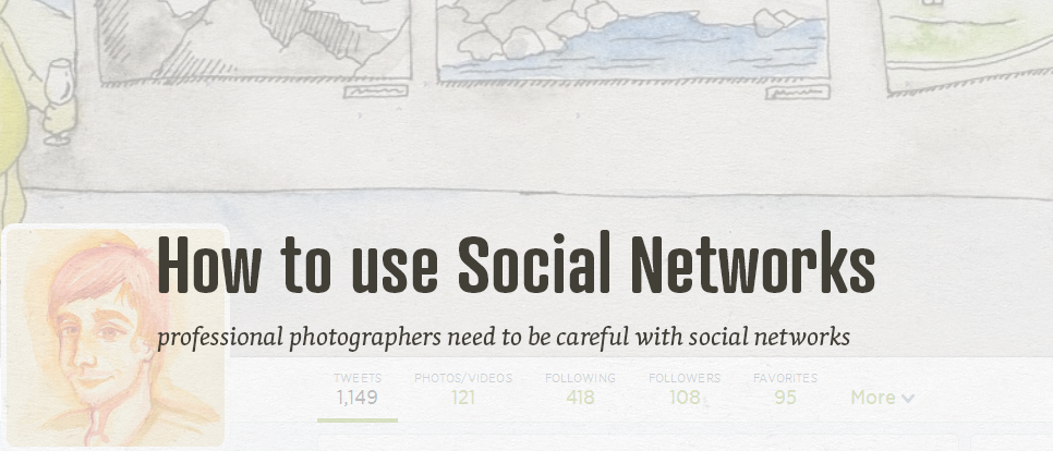 How photographers should(n't) manage social networks