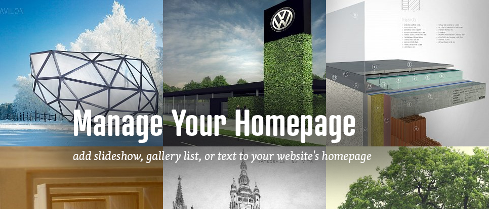 What can you show on your homepage?