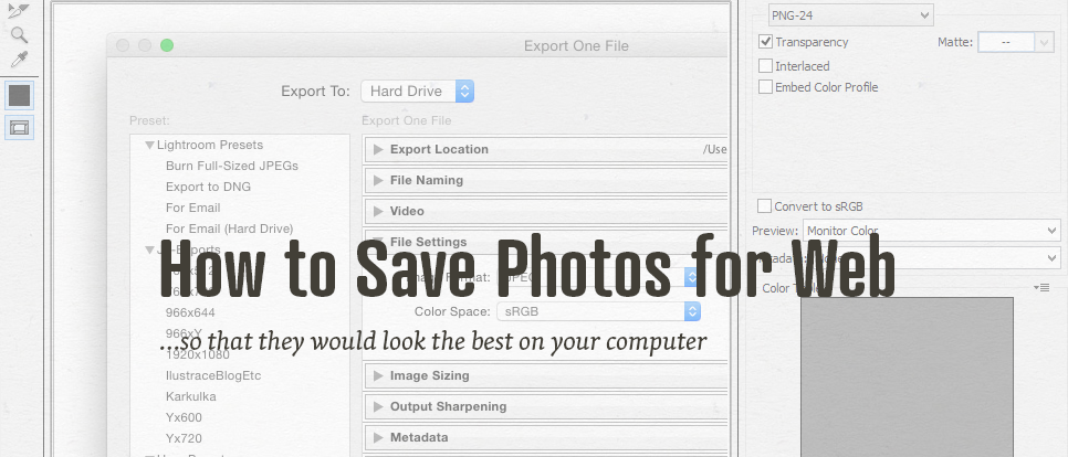 How to correctly save your photographs