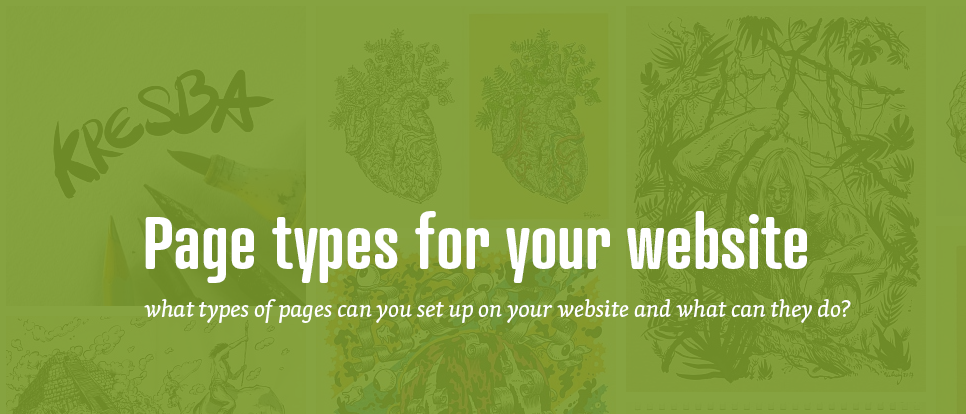 Page types for your website