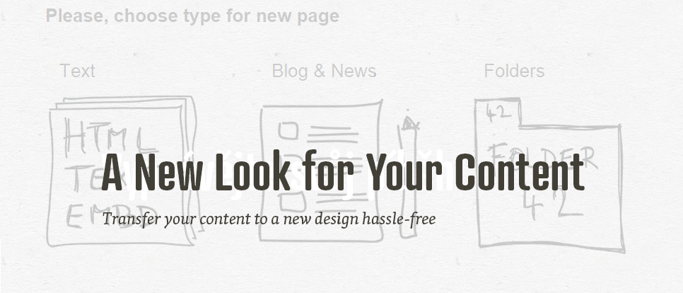 How to transfer your content from an old web to a new one