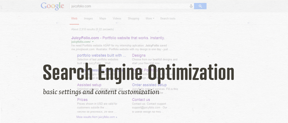 Basic Settings for Search Engine Optimization