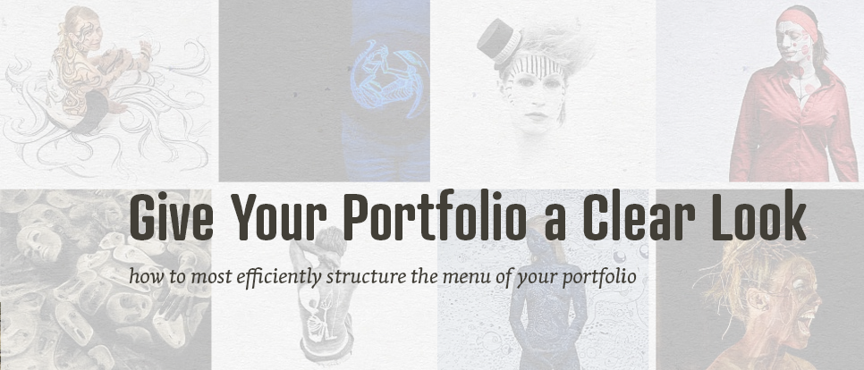 How to structure the menu of your portfolio