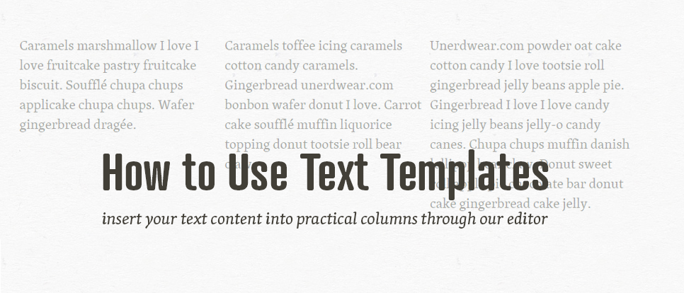 Use text templates