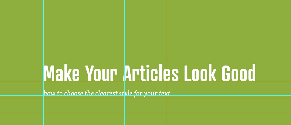 Typography for your articles