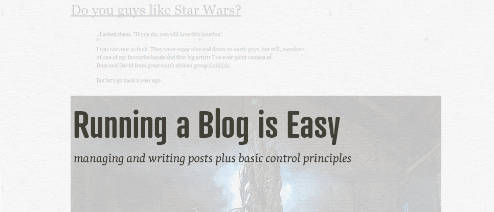 Managing Blog Posts