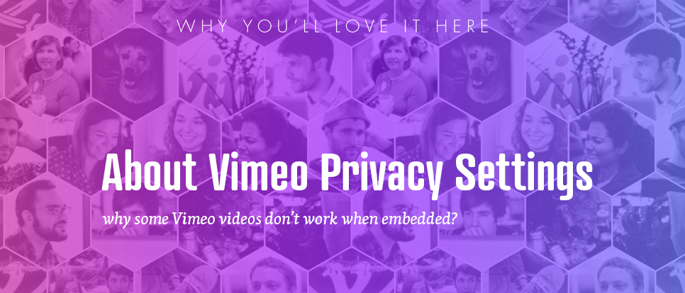 Privacy settings on Vimeo